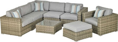 Patio Resort Lifestyles Del Rey 8 Piece Sectional Deep Seating Group