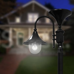 Gama Sonic Everest Solar Light Post, GS Solar Light Bulb, GS-109S
