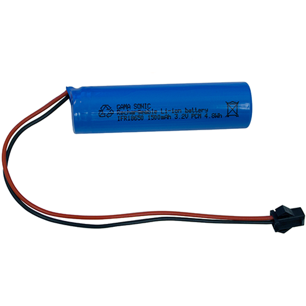 Gama Sonic Li-Ion Replacement Battery 1PK, 3.2V, 1500ma (fits GS-98, 106, 113)