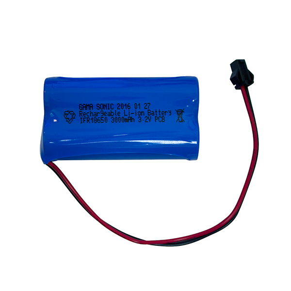 Gama Sonic Li-Ion Replacement Battery 2PK, 3.2V, 3000ma (fits GS-94, 97, 104, 103)