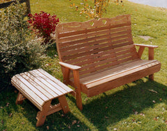 Creekvine Designs Cedar Royal Country Hearts Garden Bench