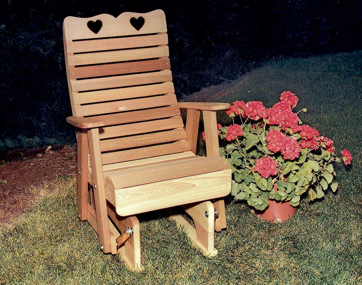 Creekvine Designs Cedar Royal Country Hearts Glider Chair