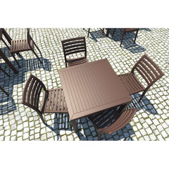 Compamia Ares Resin Square Dining Set With 4 Chairs