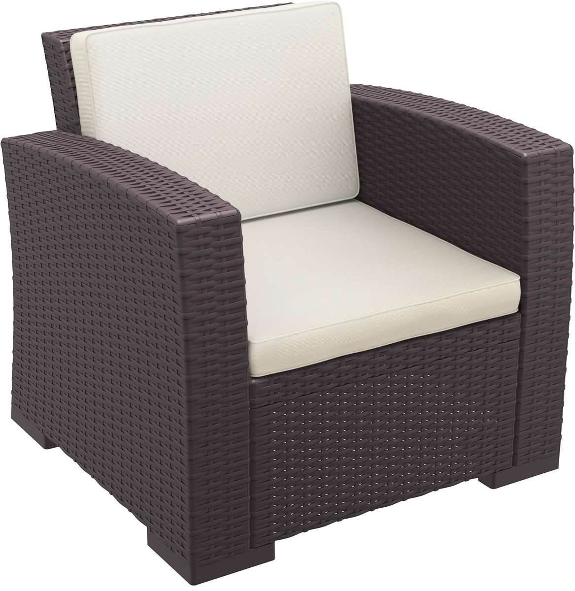 Compamia Monaco Resin Patio Club Chair With Cushion