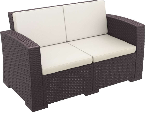 Compamia Monaco Resin Patio Loveseat With Cushion