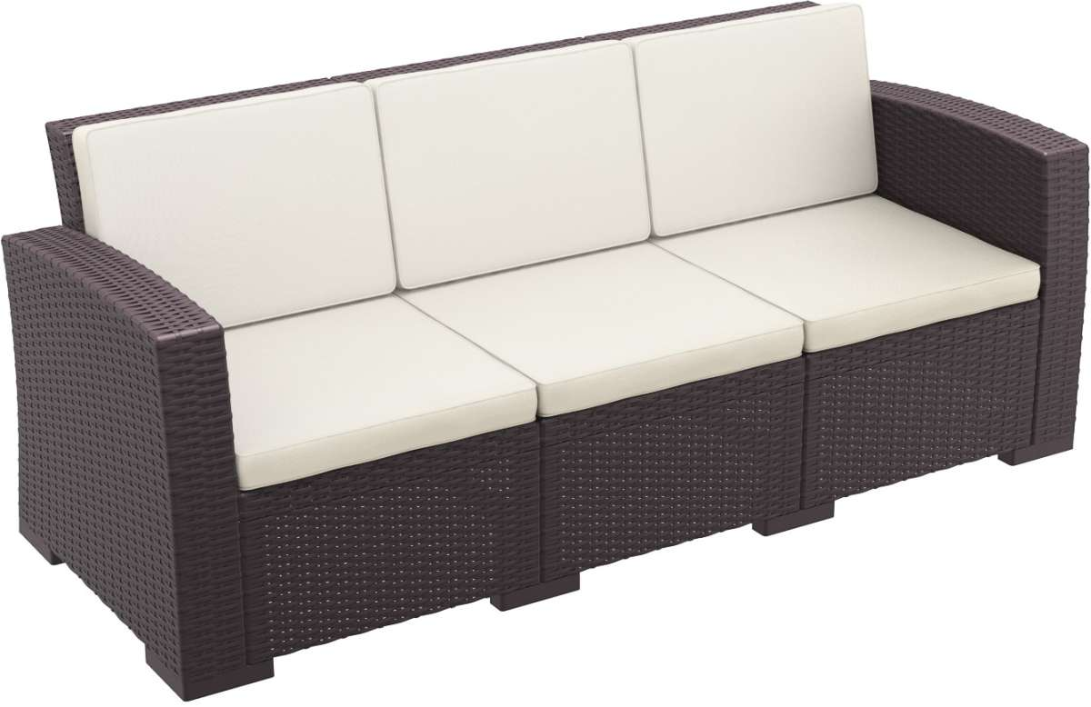 Compamia Monaco Resin Patio Couch With Cushion