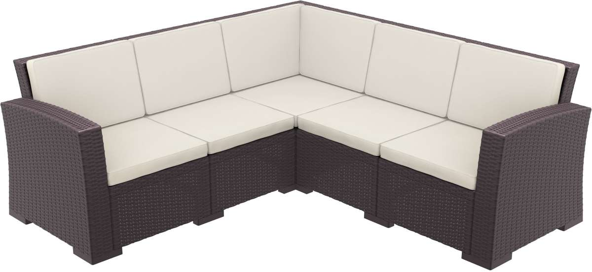 Compamia Monaco Resin Patio Sectional 5 Piece With Cushion