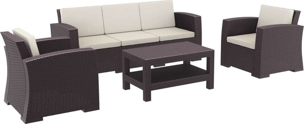 Compamia Monaco Resin Patio Seating Set 5 Person 4 Piece With Cushion