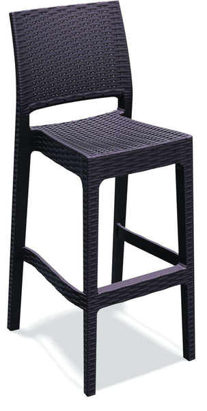 Compamia Jamaica Resin Wickerlook Barstool 2 Pk