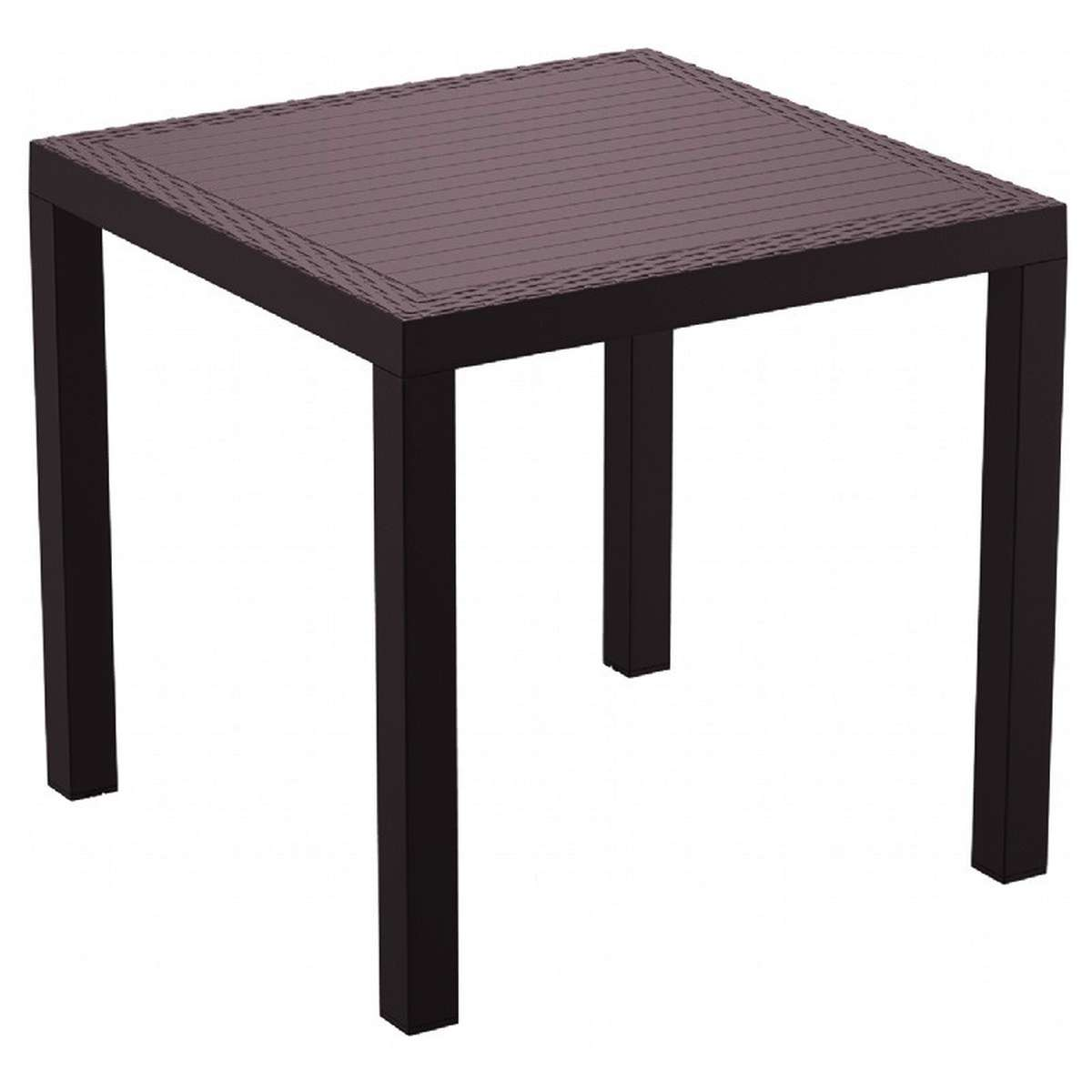 Compamia Orlando Resin Wickerlook Square Dining Table 31 Inches