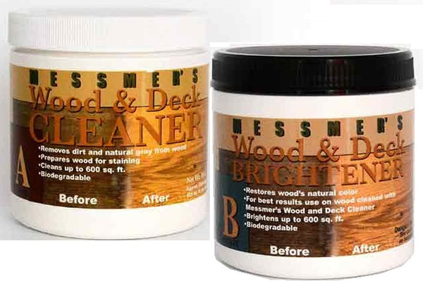 Messmers Wood Deck Cleaner & Brightener Combo Pack