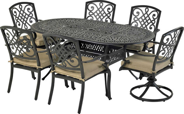 "Patio Resort Lifestyles Bridgetown 7 Piece Dining Set With 72"" Table"