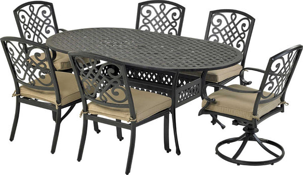 "Patio Resort Lifestyles Bridgetwon 7 Piece Dining Set With 72"" Table"