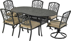 Patio Resort Lifestyles Bridgetwon 7 Piece Dining Set With 72
