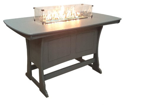 "Perfect Choice Furniture 72"" Dining Height Fire Table"