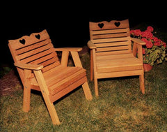 Creekvine Designs Cedar Country Hearts Patio Chair