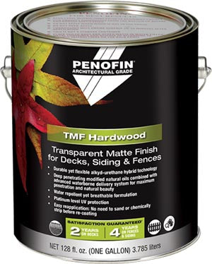 Penofin Architectural Grade Transparent Matte Finish, TMF Penetrating Oil Stain