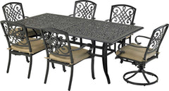 Patio Resort Lifestyles Bridgetown 7 Piece Dining Set With 84