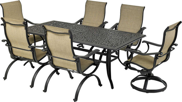 Patio Resort Lifestyles Laguna 7 Piece Rectangle Dining Set