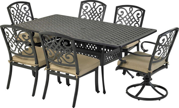 Patio Resort Lifestyles Bridgetown 7 Piece Rectangle Dining Set