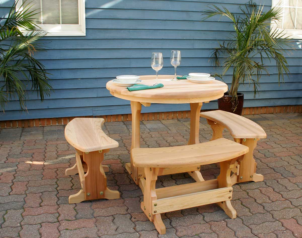 Creekvine Designs Cedar Round Trestle Dining Set