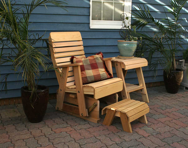 Creekvine Designs Cedar Twin Ponds Rocking Glider Chair Set