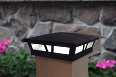 Classy Caps Cambridge Solar Post Light, 6