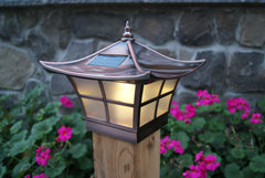 Classy Caps Ambience Solar Post Light, 4