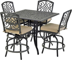 Patio Resort Lifestyles Bridgetown 5 Piece Square Counter Set