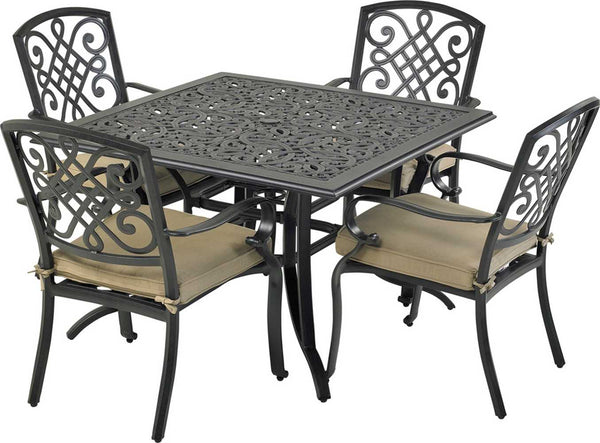 Patio Resort Lifestyles Bridgetown Square 5 Piece Dining Set