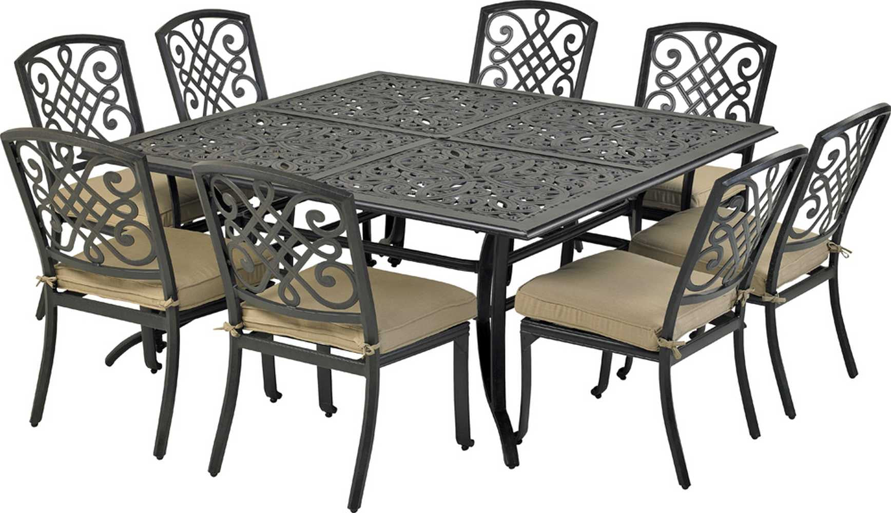 Patio Resort Lifestyles Bridgetown 9 Piece Square Dining Set