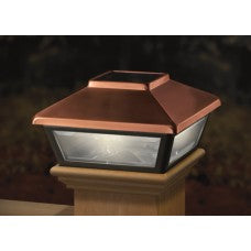 Deckorators Solar Deck Post Light, Copper