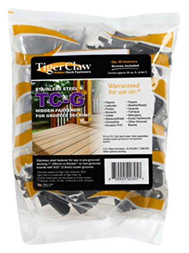 TigerClaw Hidden Fastener 90 Pieces