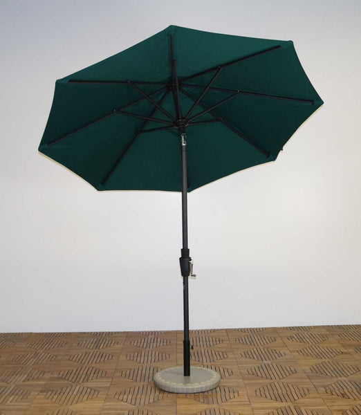 Shade Trends 7.5 x 8 Rib Premium Market Umbrella with 360 Auto Tilt Crank Lift
