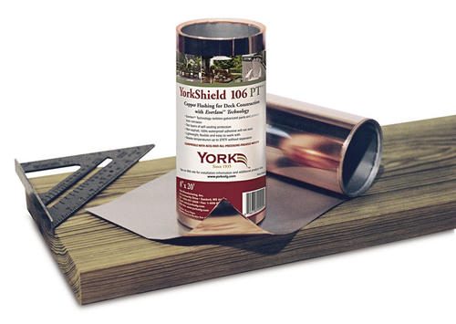 "York 10"" x 20' Copper Flashing"