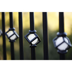 Deck Impressions-32 in. Single Cubic Lighted Baluster
