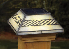 Deckorators Chevron Tiffany-Style Solar Deck Post Light