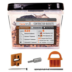 DeckWise Ipe Clip Hidden Deck Extreme Black Fasteners Contractor Buckets