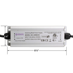 DeKor EZMAXC 100W Power Supply, dimmable 12V DC output