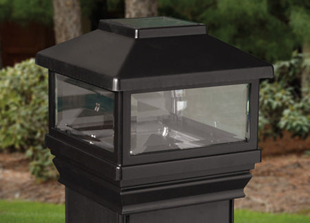 Deckorators Solar LED Deck Post Light, Black