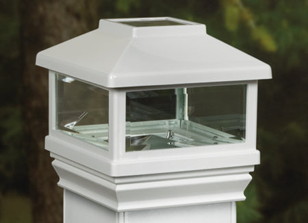 Deckorators Solar LED Deck Post Light, White
