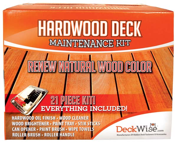 DeckWise Hardwood Deck Restoration, Maintenance Kit