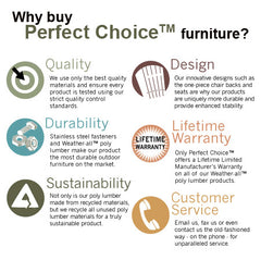 Perfect Choice Furniture Single Glider