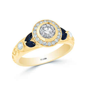 CENTER DIAMOND HALO ENGAGEMENT RING