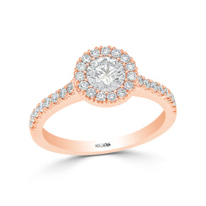 CANADIAN DIAMOND ENGAGEMENT FROSTED BEZEL RING SET