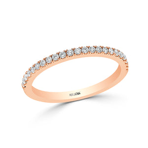 0.30CT Natural Diamond Wedding Band 18K Rose Gold Conflict Free Diamonds Band Bridal Jewelry Anniversary Band Stackable Band Canadian