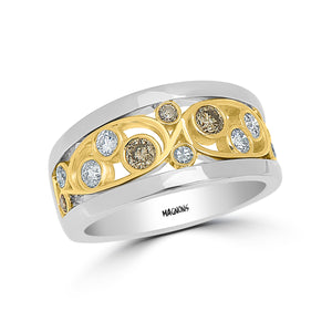 CHAMPAGNE DIAMOND RING BAND