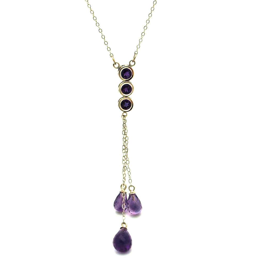 GEMSTONE NECKLACE 14KT WHITE GOLD