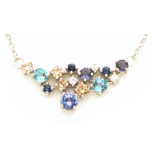 GEMSTONE DIAMOND PENDANT NECKLACE