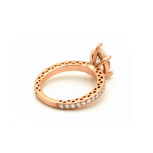 ENGAGEMENT DIAMOND RING 14KT ROSE GOLD